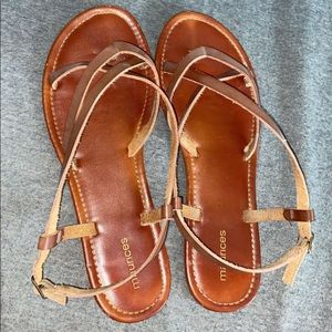 maurices brown sandals